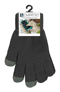 Picture of Original COMFRTXT  Touchscreen Gloves - CASE OF 10 PAIR! BLACK