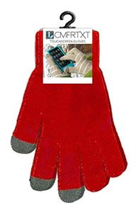 Picture of Original COMFRTXT  Touchscreen Gloves - CASE OF 10 PAIR! RED
