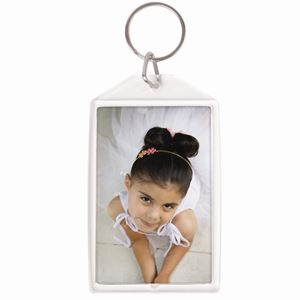 "Picture of 2"" x 3"" Key Chain Clear Acrylic, Snap-In Photo"