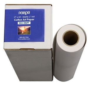 "Picture of Pakor Cotton Art Paper, 17"" x 50' - Matte"