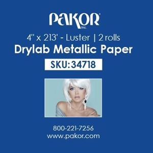 "Picture of Pakor Drylab Metallic Photo Paper, 4"" x 213' — Luster"