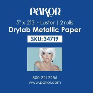 "Picture of Pakor Drylab Metallic Photo Paper, 5"" x 213' — Luster"