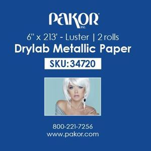 "Picture of Pakor Drylab Metallic Photo Paper, 6"" x 213' — Luster"