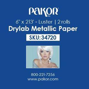 "Picture of Pakor Drylab Metallic Photo Paper, 6"" x 213' — Luster"