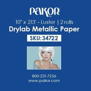 "Picture of Pakor Drylab Metallic Photo Paper, 10"" x 213' — Luster"