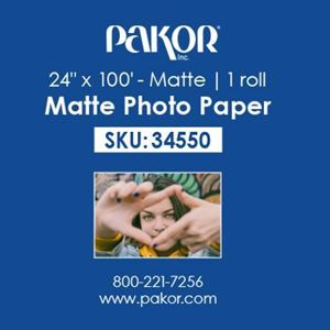"Picture of Pakor Photo Paper, 24"" x 100' - Matte (9 mil)"