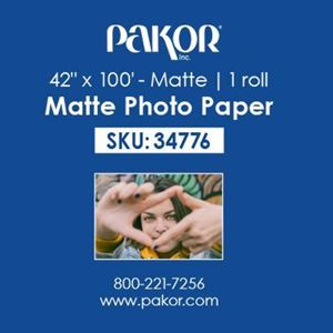 "Picture of Pakor Photo Paper, 42"" x 100' - Matte (9 mil)"