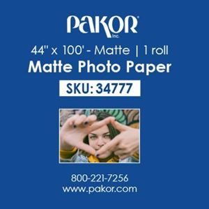 "Picture of Pakor Photo Paper, 44"" x 100' - Matte (9 mil)"
