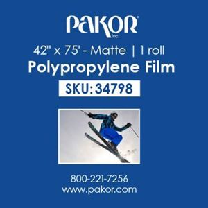 "Picture of Pakor Matte Polypropylene Film, 42"" x 75'"