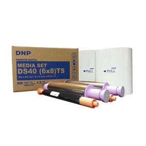 "Picture of DNP DS620A 6"" x 8"" Dye-Sub Media - Double PERFORATED (2"" Perf)"