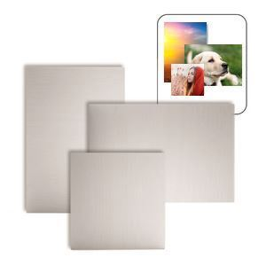 "Picture of ChromaLuxe 4"" x 4"" Semi-Gloss White HD Aluminum Panel"
