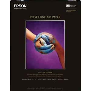 "Picture of Epson Velvet Fine Art 17""x22"" - 25 sheets"