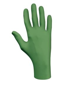 Picture of Green Nitrile Gloves, 4 mil - Medium